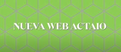 Nueva web Actaio