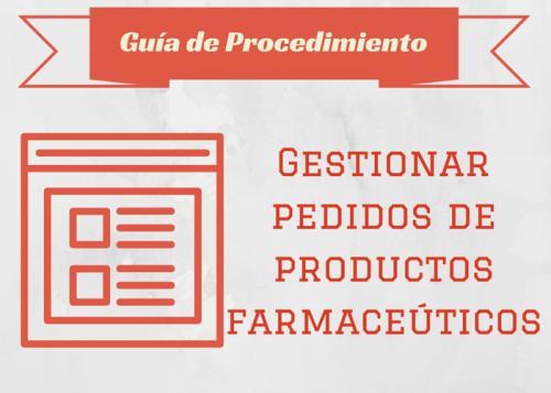 Gestionar pedidos de productos farmaceúticos