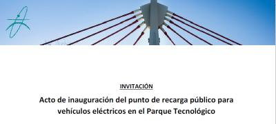 Inauguración de un Punto de Recarga Eléctrica en el Parque Tecnológico