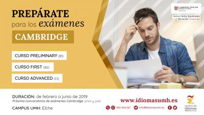 Prepárate para los exámenes Cambridge English en el Centro de Idiomas UMH