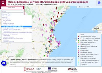 Mapa de Entidades y Servicios al Emprendimiento
