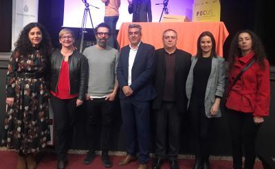 Técnicos de los ayuntamientos de Elche y Santa Pola junto a la Alcaldesa de la localidad, el presidente y director de CEEI Elche y el chef Daniel Alvarez