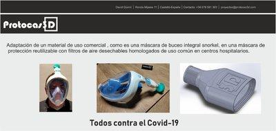 Convertir máscara de Snorkel en máscara de Equipo de Prevención Individual (EPIs)
