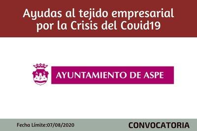 Ayudas al tejido empresarial por CRISIS  COVID19 - Ayto de Aspe