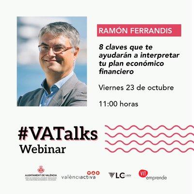 Cartel #VATalks Ramón Ferrandis CEEI