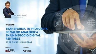 transformar tu propuesta de valor analógica en un negocio digital