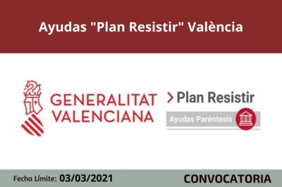 """Ayudas """"Plan Resistir"""" València"""