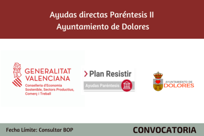 Ayudas Económicas Covid 19 - Ayuntamiento Dolores